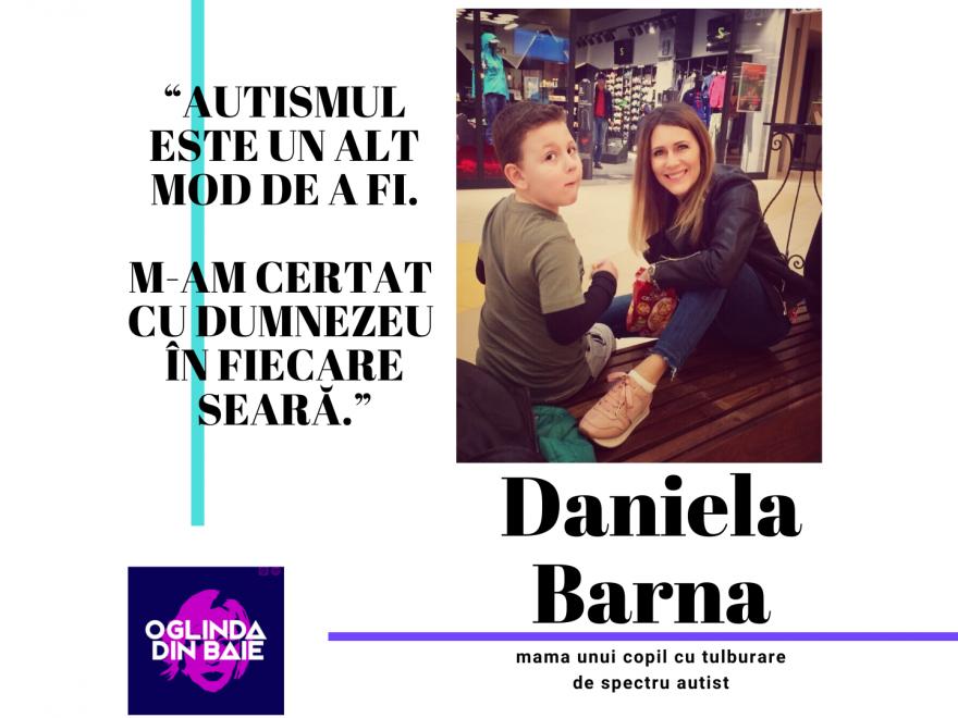 Daniela Barna in Oglinda din Baie